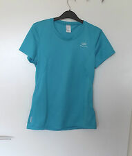"OXYLANE  KALENJI  34"" CHEST  LADY BLUE   RUNNING , GYM , FITNESS TOP"