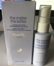 Avon mark The Matter The Better Liquid Mattifier 1.7 oz Acne Treatment New