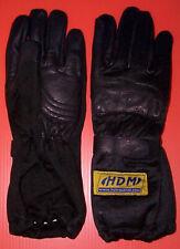 Go Kart Racing Leather Racing Driving Gloves Black on Black Adult Large