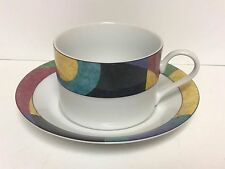 MIKASA CURRENTS FLAT CUP AND SAUCER SET  - NEW CONDITION!