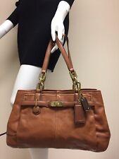 COACH Chelsea Jayden Brown British Cognac Leather Shoulder Handbag Purse F17811