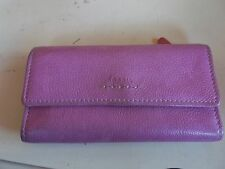 Fossil Woman's Pink Leather Popstitch Trifold Wallet