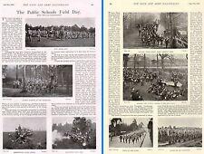 1899 BOER WAR ~ PUBLIC SCHOOLS FIELD DAY ~ ETON HARROW MALVERN RUGBY BRADFIELD