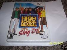 High School Musical: Sing It! (game only) (Wii) new