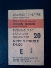 Duran Duran  ticket Southampton Gaumont 20/11/81