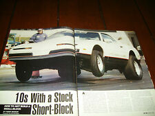 1988 PONTIAC FIREBIRD FORMULA 10 SECOND 1/4 MILE  ***ORIGINAL 2002 ARTICLE***