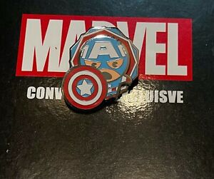 Marvel Fan Expo Exclusive Pin Set CAPTAIN AMERICA 3D Raised Pin Limited Edition