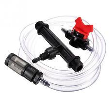 "1/2"" Garden Irrigation Device Venturi Fertilizer Injector+Switch Water Tube Kit"