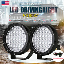 "Pair 7"" LED Driving Light Spot Work Lamp 4wd Offroad Boat Atv Cree Flood Beam"