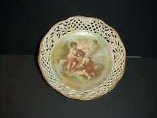 Schumann Arzberg Germany Reticulated Bowl Hand Painted Children Lamb C.1955