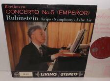 SB-2015 Beethoven Piano Concerto No.5 (Emperor) Rubinstein Krips Grvd Red/Silver