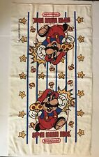 "VTG 1989 Nintendo Super Mario Bros Bath Towel 25.5"" x 86"" Made in the USA"