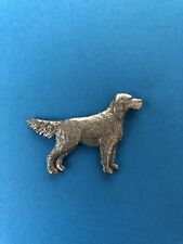 Gg Harris Fine Pewter Vintage 1992 English Setter Dog Lapel Pin Pinback