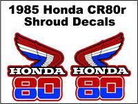 Radiator Shroud Decals ✰ 1985 Honda CR250R CR250 CR 250 Motocross ✰ off road ✰