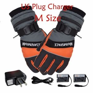 Battery Powered Self Heated Gloves Electric Rechargeable Waterproof Heated Glove