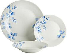 Viners floral fine en grès 12 pièces service de table set-bleu & blanc