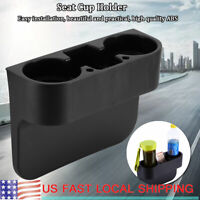 Car Seat Drink Cup Holder Can Bottle Food Mount Stand 3-in-1 Storage Shelf USA