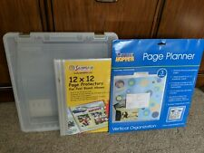 Scrapbook Cases For Supplies, Clear divided storage box page planner protectors