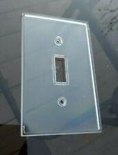 Single Light Switch Plate Cover Clear Toggle Rocker Acrylic custom craft