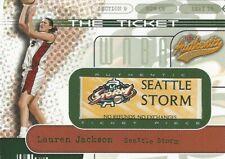 2002 FLEER AUTHENTIX WNBA * THE TICKET * LAUREN JACKSON 191/575 STORM OPALS