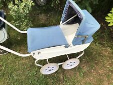 Middle of 20th century vintage dolls pram With rain Cover