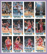 CUT/GRADE UNCUT SHEET CHARLES BARKLEY HAWKINS DAWKINS 1991 PANINI STICKER CARD