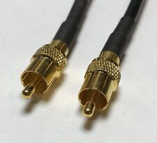 RCA Male To RCA Male 12 Inch RFC195 RF Pigtail Jumper Coax cable USA
