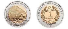 Turkey Coin 1 Lira Hengehog Long Eared Bimetallic UNC New 2014 Year R126