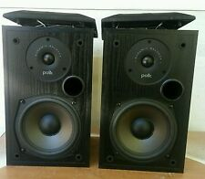 POLK AUDIO R15 Pair Bookshelf SPEAKERS Black Dynamic Balance