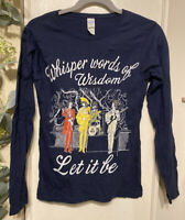 TOP Size S Whisper Words Of Wisdom Let It Be Beatles Long Sleeve T Shirt