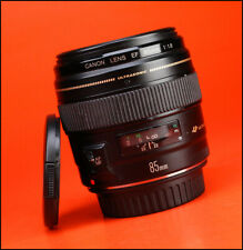 Canon EF 85mm F1.8 USM Telephoto Lens - Sold with Front & Rear Lens Caps