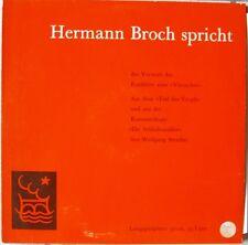 LP Hermann Broch spricht-das Vorwort des Erzählers,Top Zustand