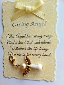 Beautiful Caring Angel Charm with Verse, Keepsake, Gift,
