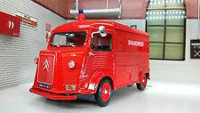 Citroen H Type Van Welly 1:24 Scale Diecast Model Dutch Brandweer Fire Engine
