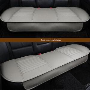 Gray PU Rear Car Full Surround Seat Cover Bamboo Charcoal Breathable Cushion