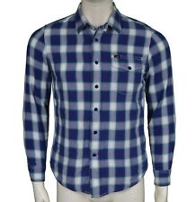 Lee Blue Plaid Check Shirt Men's Size S Small