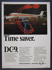 1968 McDonnell Douglas DC-9 DC9 jet jetliner airplane photo vintage print Ad
