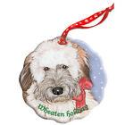 Wheaten Terrier Holiday Porcelain Christmas Tree Ornament