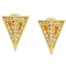 cc skye Fortress Stud Gold With Zirconia Triangle Fashion Earrings Org Price $78