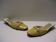 Michelle K Womens Shoes Sz 7 M US Stone Nubu Heels Mule Slipons Casual Dress