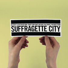 "David Bowie Sticker! ""Suffragette City"" Fame, Ziggy Stardust, iggy pop, ashes to"