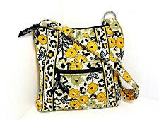 VERA BRADLEY Go Wild Yellow Leopard Handbag Crossbody Bag Cotton Floral