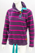 JOULES Purple Striped Collared Jumper with Drawstring Hem UK 10 EUR S