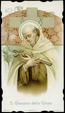 antico santino cromo-holy card S.GIOVANNI DELLA CROCE