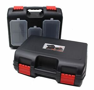 NEW Plastic Power Tool Storage Case Box With Or Without Parts Organiser - Choice