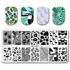 Nail Art Stamping Plate Image Decoration Summer Holiday Flamingos Pineapple BP76