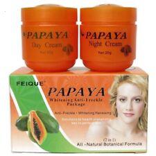 2Pcs Papaya Anti Freckle Spots Skin Face whitening cream Brightening Day Night