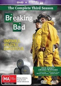 Breaking Bad : Season 3  : 4 Disc : NEW DVD