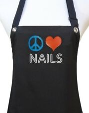 Manicurist Nail Tech Apron manicure pedicure waterproof  PEACE HEART NAILS