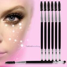 6pcs Stylish Double Ended Eyebrow Makeup Wand Brow Shaping Angled Eyelash Brush